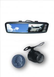 China 4,3 caméra de secours de rétroviseur d'entrée bi-directionnelle de poids du commerce de vision nocturne de TFT LCD IR avec des lignes d'échelle de distance on sale