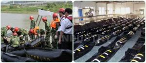 China WGV700 Solid Float Rubber Boom PVC Rubber Containment Boom For Oil Spill on sale