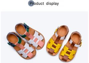 China Toddler Girls Cowhide Lining Summer Sandals Shoes on sale