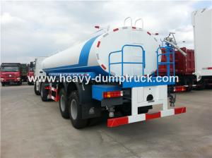 China HOWO 6X4 Water Tank Water Delivery Trucks With 23 CBM And ZF8098 Steering Box on sale