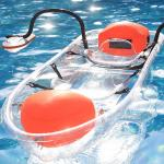 Tourism / Vacation See Through Kayak Bottom Paddle Board With Outriggers