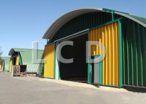 China Movable Arch Roof K Span Roll Forming Machine For Building 4.0KW Cutting Power on sale