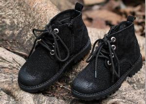 China Winter Snow Boots Stylish Kids Shoes Boots Lace-Up Side Zipper Shoes 23-30 on sale