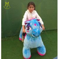 Hansel funfair plush animal toy car electric outdoor kids ride on plush animal