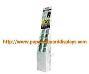China Show Folding Retail Product Cardboard Book Display Stand With Color Printing on sale