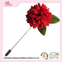 China Boutique artificial flower pins 3cm , christmas lapel pins fashionable design on sale
