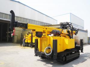 China Crawler Hydraulic Engine Drived Rock Drilling Rig , Mining Reverse Circulation Drilling Rig on sale