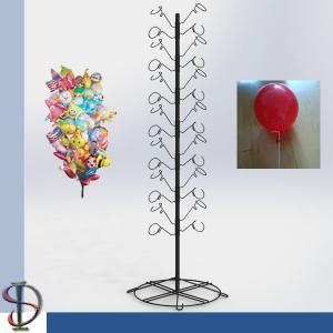 China Balloon Holder Tree Stand / Metal hooks display stand / metal display rack with round base / POP display stand on sale