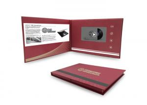 China Commercial LCD Video Brochure Card Paper Printed LCD Video Business Cards on sale