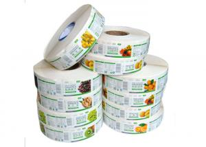 China Self Adhesive Labels / Custom Label Stickers Glossy Coated Paper With Rectangle Shape on sale