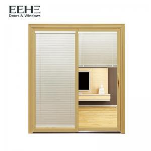 China Waterproof Commercial Aluminum Sliding Doors , Red Powder Coated Aluminium Sliding Doors on sale