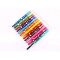 Eco-friendly fancy 12 colors  Non-toxic wax crayon set/ 12 colors rotating body crayon for children
