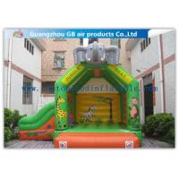 China Elephant Animal Shape Inflatable Bouncy Castle With Slide For Children Games on sale