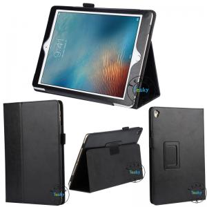 China Elastic Hand Strap and Stylus Holder Slim Folding pu leather tablet case for ipad pro 9.7 on sale