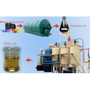 China Recycling fuel oil to diesel oil from plastic on sale