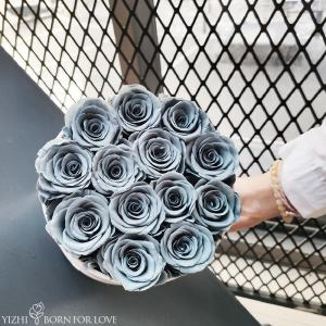 China Velvet Style Eternal Flower Box Wedding Home Decor The Best Gift To Accompany Her Preserved Flower For Valentines Day on sale