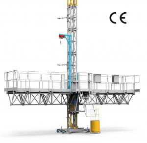 China 1500Kg Payload Mast Climbing Work Platform For Building Construction , High Performence on sale