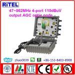 CATV 1G Bi-directional AGC Outdoor Optic Receiver 4-port ON-4