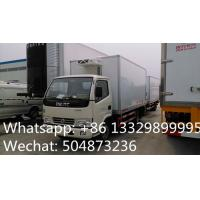 CLW brand 3tons refrigeratated truck with meat hooks for sale, best price 3-5tons cold room truck for fresh meat/beef