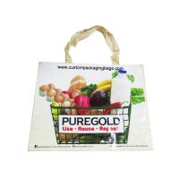 China Portable Custom Printed Shopping Bags , Biodegradable Shopping Bags PP Woven on sale