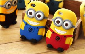 China Anqueue Rubber mobile phone case, despicable me cell phone case, silicon case for iphone 5 on sale