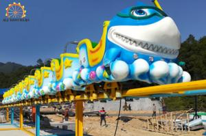 China Hot sale new design amusement rides shark roller coaster for kids and adult on sale