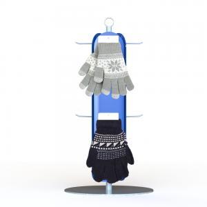 China Customized Gloves Metal Display Rack With 3 Sides Plastic Panel Metal Hooks retail Clothing Display Racks on sale