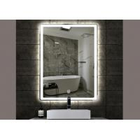 China Stylish  Rectangle Vanity Mirror , Illuminated Wall Mirrors For Bathroom on sale