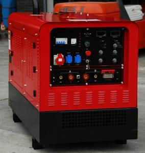 China Lincoln Dual Operation DC Welding Genset Diesel Generator Welder Two Outlets 30 - 500A on sale