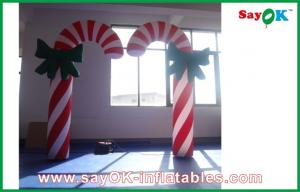 China H2.5m Inflatable Lighting Decoration Candy Cane Christmas Lights on sale