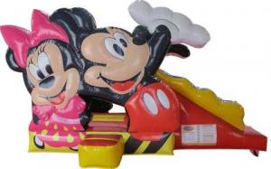 China Safety Kids Inflatable Bounce House Mickey And Minnie Mouse Shape on sale
