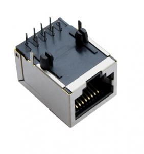 China RMS-048H-10W0-NL Blue RJ45 With Transformer  Base - t 90 Degree Magnetic 10P8C Side Enter With Shield on sale