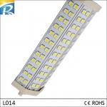 6063 Pure Aluminium 1300lm 15W R7S 72pcs SMD 5050 LED PL Lamps For Supermarket