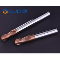 China High Performance Machining HRC55 2 Flute Carbide Ball Nose EndMill with AICrSiN Coating for CNC Milling on sale