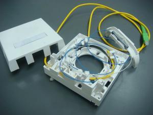 China Fiber Single Wall Socket Fiber Optic Termination Single Family Unit For RJ45 And SC Mounting Box on sale