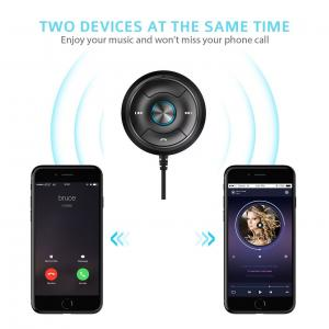 China Via-Link Bluetooth Car Kit Hands-Free Wireless Talking & Music Streaming Receiver with Dual Port USB Car Charger on sale