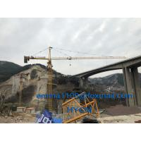 China QTZ6513 Top Slewing Tower Crane Free Height 45meters 2.5m Mast Section on sale