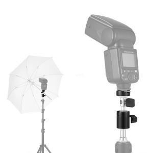 China Camera Flash Shoe Umbrella Holder Swivel Light Stand Bracket D Type 1/4 3/8 inch on sale