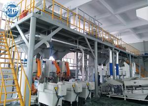 China Full Automatic Dry Mix Mortar Production Line 8 - 25T Per Hour With PLC Control System on sale