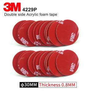 China Double Sided Adhesive Acrylic Foam 3M 4229P Kiss Cut Tape 75MM Circle Gray 3M Automotive Car Tape on sale