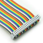 2.54mm Pitch 16 Pin PCI Ribbon Cable Female to Female Rainbow Color