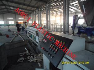 China High Efficiency Plastic Extrusion Line , Water And Gas Pipe Extruder on sale