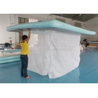 China Portable Inflatable Floating Ocean Sea Swimming Pool / Protective Anti Jellyfish Pool With Netting Enclosure For Yacht on sale