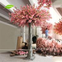 GNW BLS083 Holiday Living Christmas Decor Large Artificial Trees Pink Flower Sakura Wallpaper Restaurant