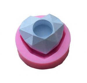 China Heart shape silicone mold, polygon planting flower pot, silicone cement planters mold on sale