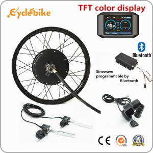 China 72v 5000W Electric Bike Kit Brushless Gearless Hub Motor With Batteries / TFT Color Display on sale