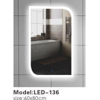 China Contemporary Touch Led Bathroom Mirror 600 , Touch Light Vanity Mirror With LED Lights on sale