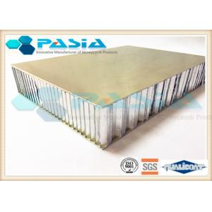 China Brushed Honeycomb Aluminum Plate , Lightweight Building Panels Thermal Insulation on sale