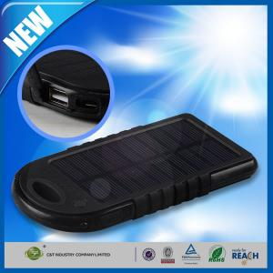 China Dual USB Port Backup Power Bank , 5000mAh Solar Panel Backup External Battery on sale