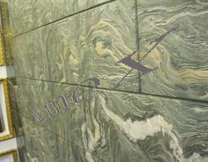 China Nine Dragon Screen Green Marble Tile on sale